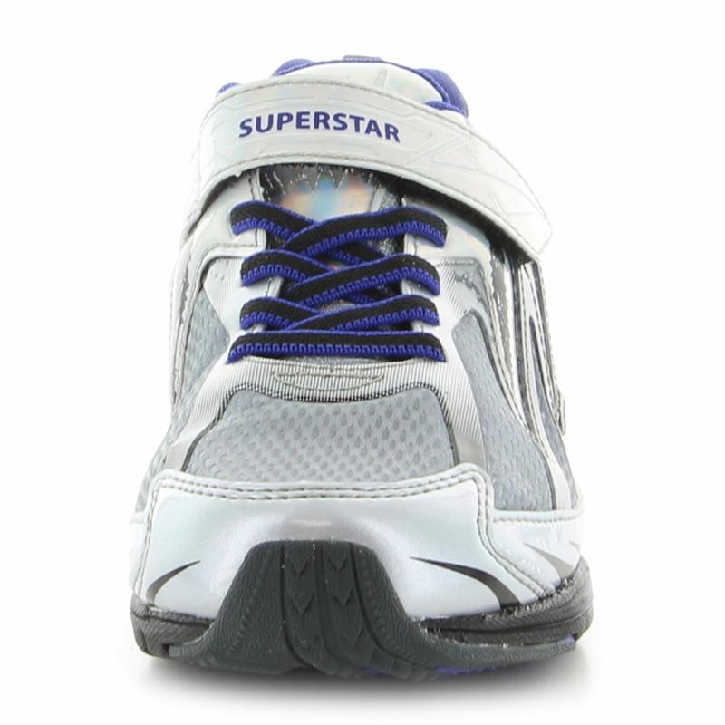 ムーンスター スーパースター 子供靴 ジュニアスニーカー SS J822 シルバー 「バネのチカラ。」ヴィクトリーモンスターシリーズ!