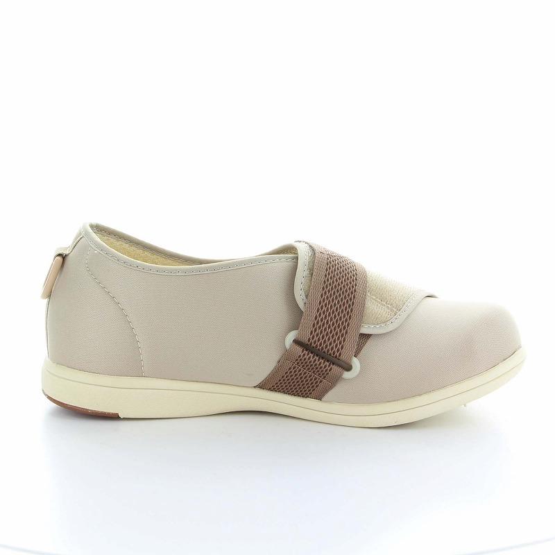 ムーンスター メンズ/レディース 介護 片足販売 パステル405左足 ベージ デイケアタイプ介護靴 足に優しい新感覚