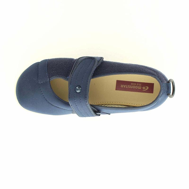 ムーンスター メンズ/レディース 介護 片足販売 パステル406右足 ネイビー デイケアタイプ介護靴 足に優しい新感覚