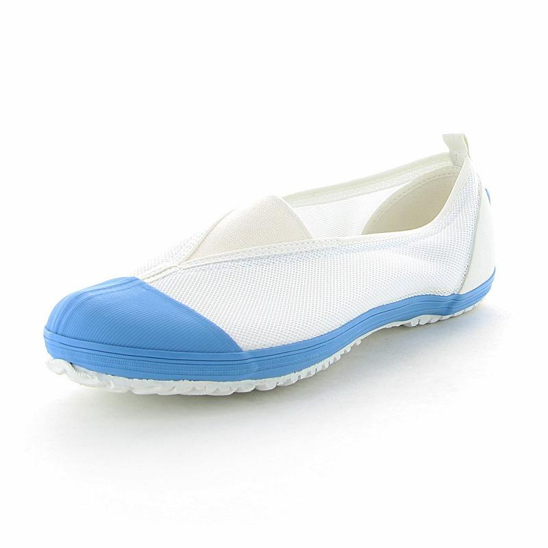 ムーンスター 子供靴/メンズ/レディース カラーメッシュ 02 ライトブルー ムーンスター 踵踏付け防止機能搭載の上履き