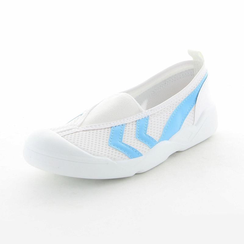 ムーンスター 子供靴/メンズ/レディース バイオTEF 01 サックス ムーンスター 汚れにくいテフロン加工の上履き