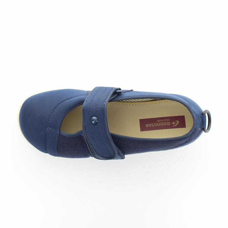 ムーンスター メンズ/レディース 介護 片足販売 パステル406左足 ネイビー デイケアタイプ介護靴 足に優しい新感覚