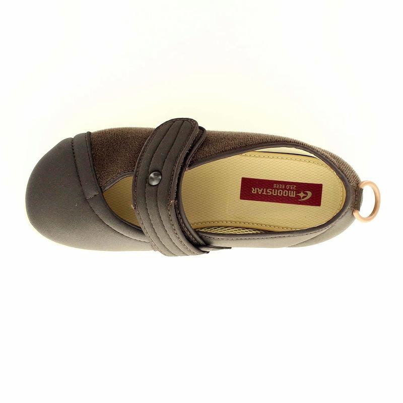 ムーンスター メンズ/レディース 介護 片足販売 パステル406右足 ブラウン デイケアタイプ介護靴 足に優しい新感覚