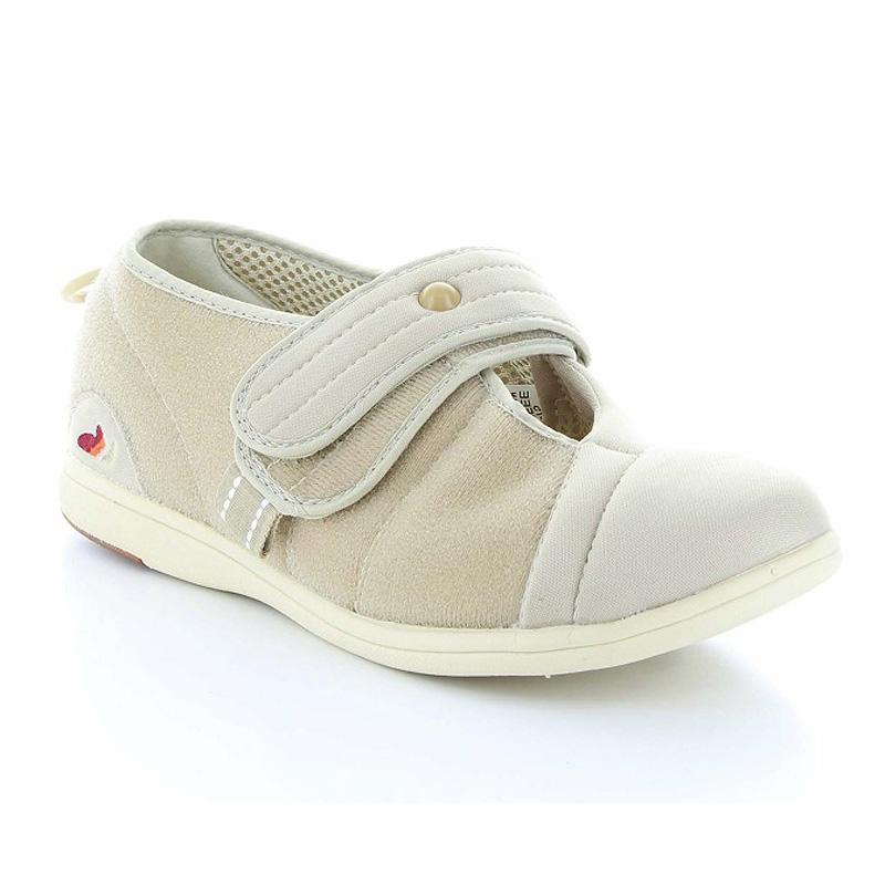 ムーンスター メンズ/レディース 介護 片足販売 パステル406右足 ベージ デイケアタイプ介護靴 足に優しい新感覚