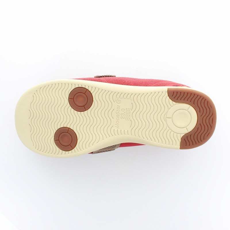 ムーンスター メンズ/レディース 介護 パステル405 ワイン デイケアタイプ介護靴 足に優しい新感覚