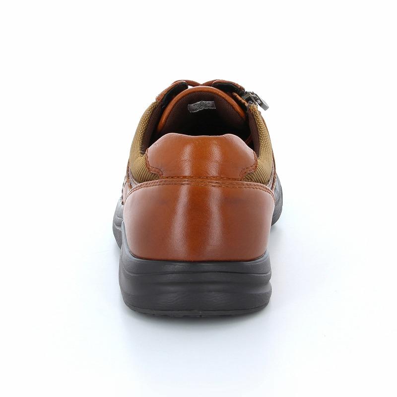 ムーンスター ワールドマーチ メンズ ウォーキングシューズ WM3118 ブラウン 本革でゆったり設計。透湿防水機能搭載で快適ウォーキング