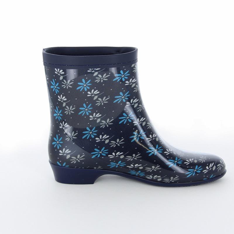 ムーンスター レディース 【梅雨対策】 雨靴 ラベリア10 ネービー レディース向けレインブーツ