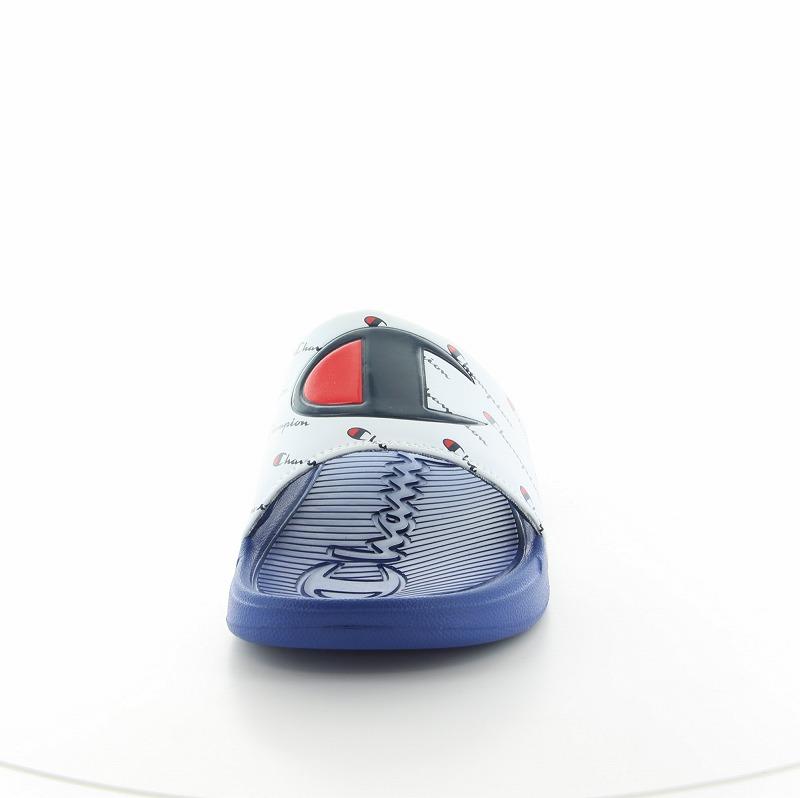チャンピオン CP LS009 スレイ ホワイト/ブルー