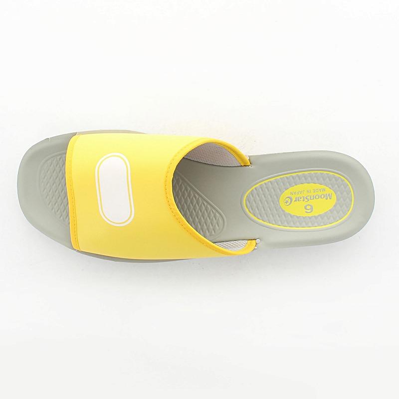 ムーンスター 子供靴/メンズ/レディース スクールサンダル 04 イエロー ムーンスター 快適スクールサンダル