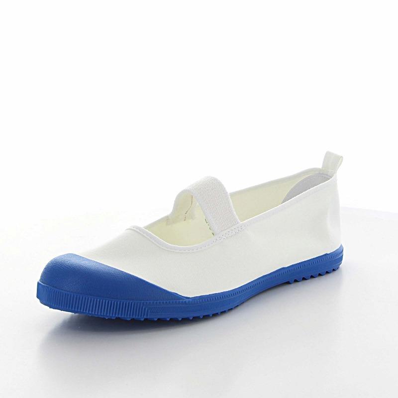 ムーンスター 子供靴 スクール アルファスクールカラー ブルー 抗菌加工の上履き