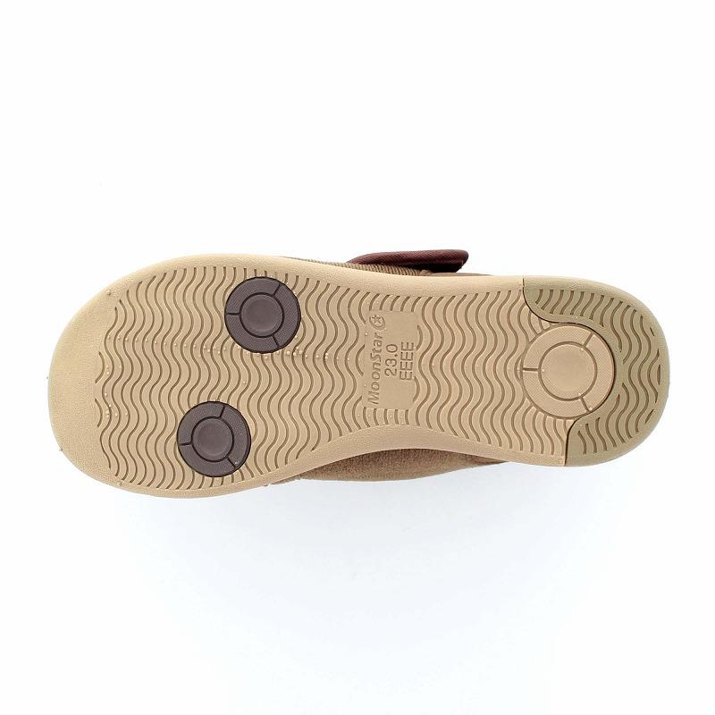 ムーンスター メンズ/レディース 介護 パステル403 ブラウン デイケアタイプ介護靴 足に優しい新感覚