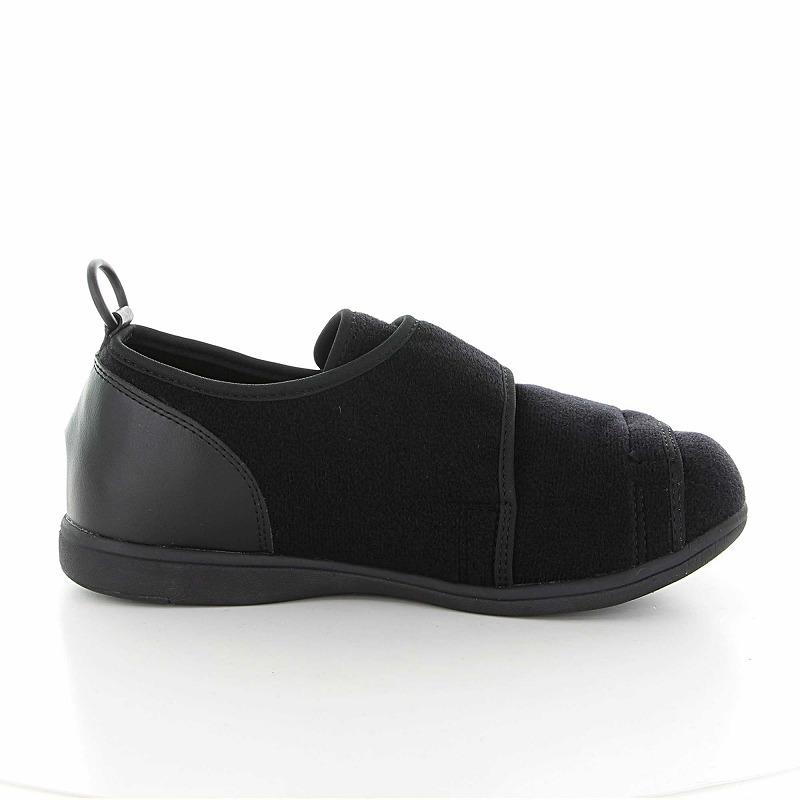 ムーンスター メンズ/レディース 介護 片足販売 パステル403左足 ブラック デイケアタイプ介護靴 足に優しい新感覚