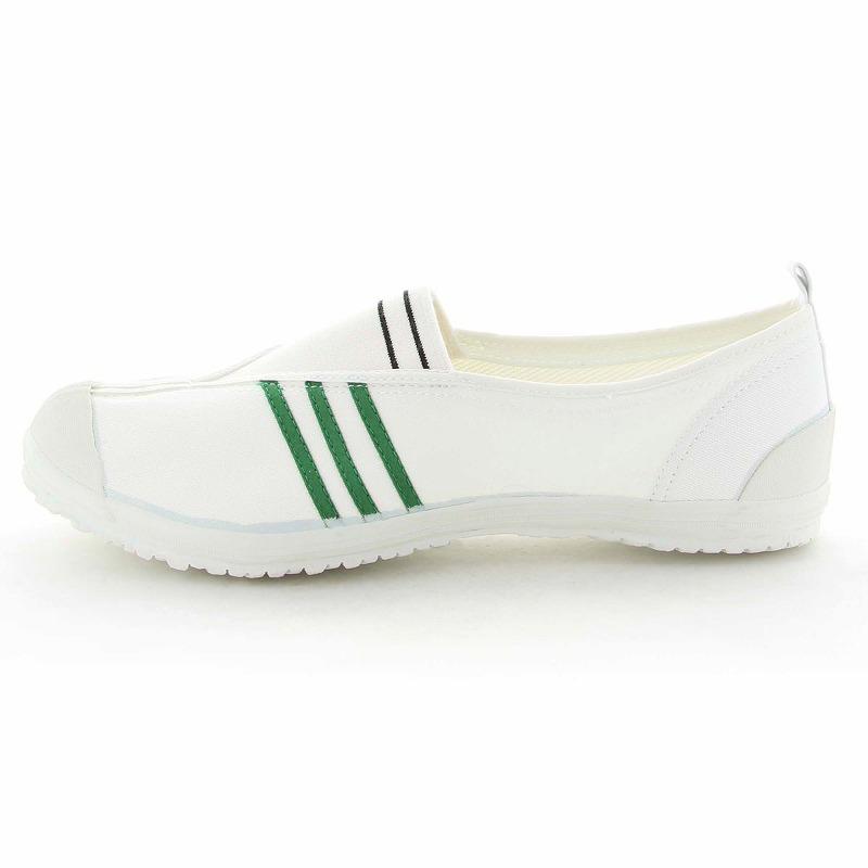 ムーンスター 子供靴/メンズ/レディース 月星体育1型A グリーン ムーンスター センターゴアの体育館シューズ
