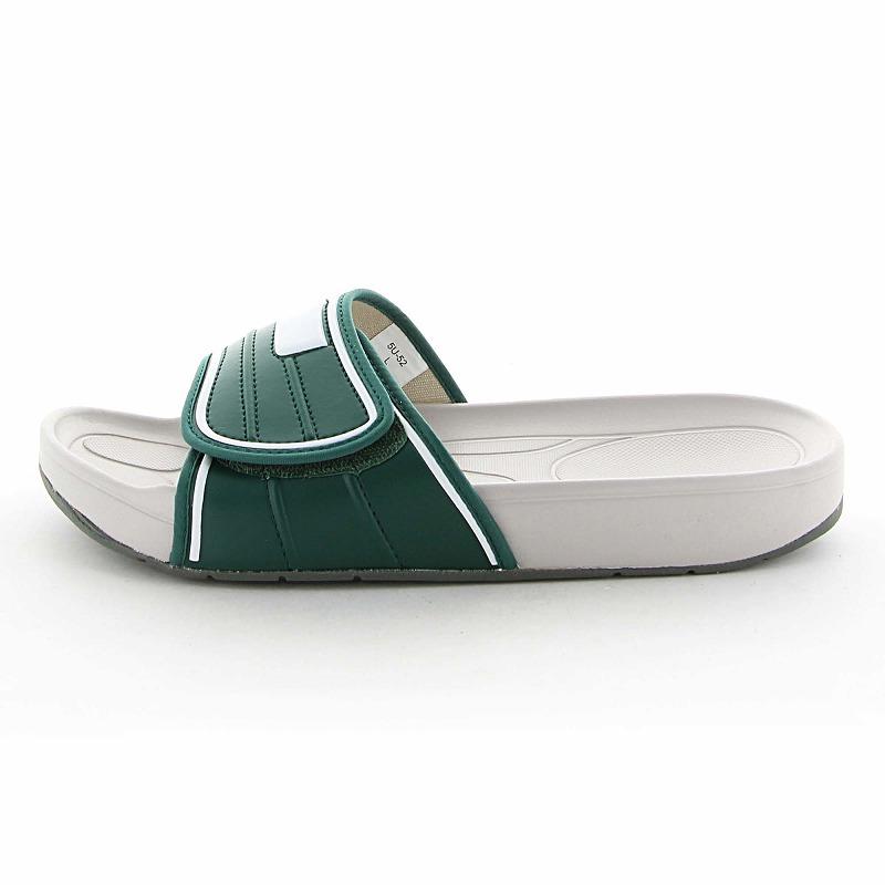 ムーンスター 子供靴/メンズ/レディース スクールサンダル 02 Dグリーン ムーンスター 面ファスナータイプのスクールサンダル