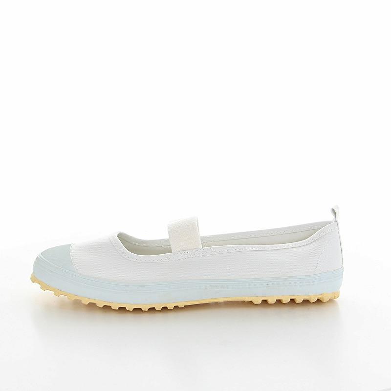 ムーンスター 子供靴 スクール スクールカラーM ホワイト 抗菌加工の上履き