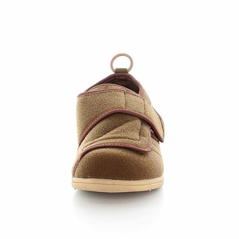ムーンスター メンズ/レディース 介護 片足販売 パステル403左足 ブラウン デイケアタイプ介護靴 足に優しい新感覚