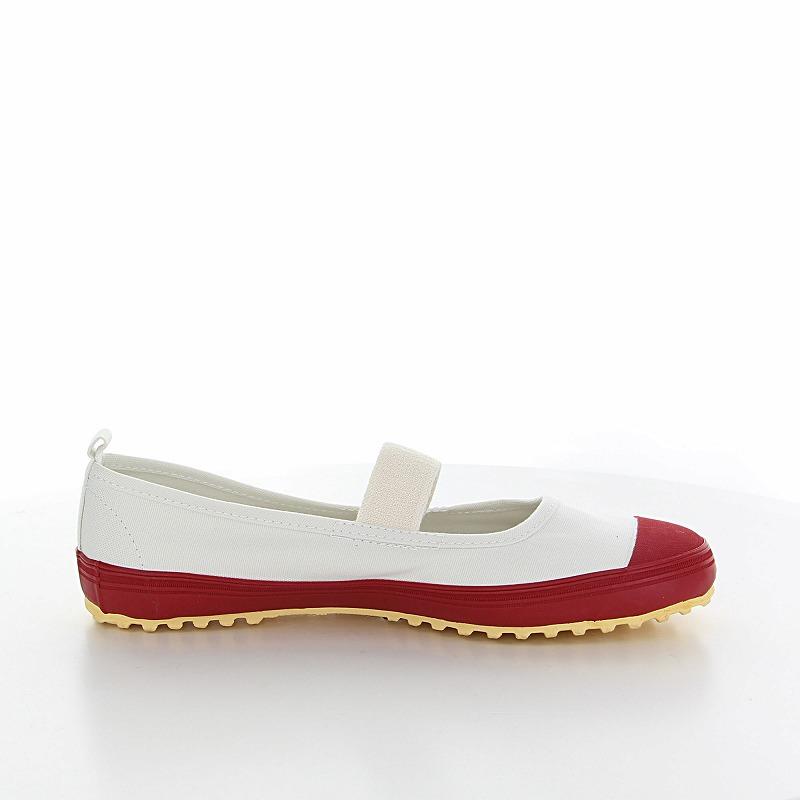 ムーンスター 子供靴 スクール スクールカラーM レッド 抗菌加工の上履き
