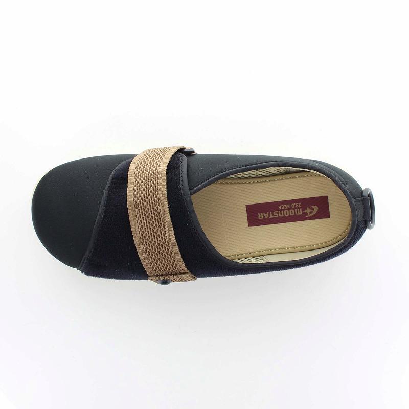 ムーンスター メンズ/レディース 介護 パステル405 ブラック デイケアタイプ介護靴 足に優しい新感覚