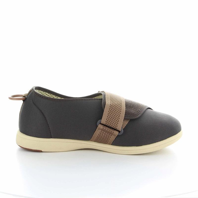 ムーンスター メンズ/レディース 介護 パステル405 ブラウン デイケアタイプ介護靴 足に優しい新感覚