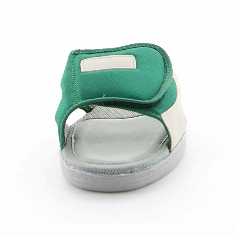 ムーンスター 子供靴/メンズ/レディース MS 7000S グリーン ムーンスター 履き心地の良いスクールサンダル