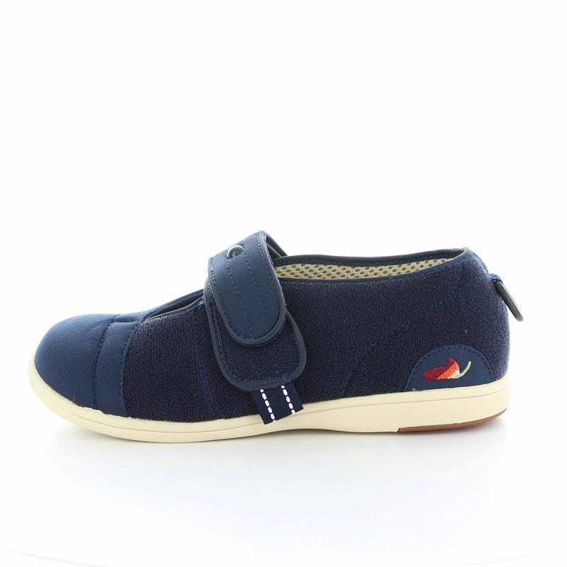 ムーンスター メンズ/レディース 介護 パステル406 ネービー デイケアタイプ介護靴 足に優しい新感覚
