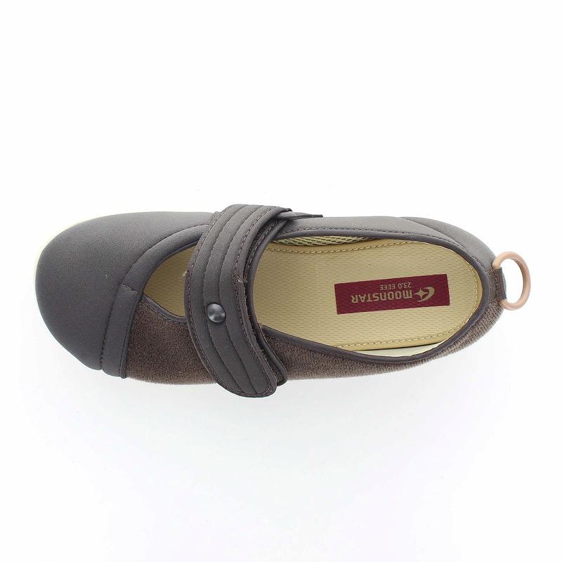 ムーンスター メンズ/レディース 介護 パステル406 ブラウン デイケアタイプ介護靴 足に優しい新感覚