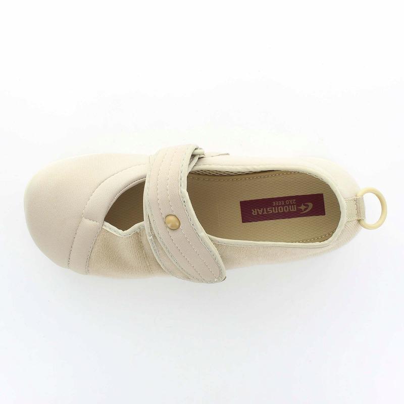 ムーンスター メンズ/レディース 介護 パステル406 ベージュ デイケアタイプ介護靴 足に優しい新感覚