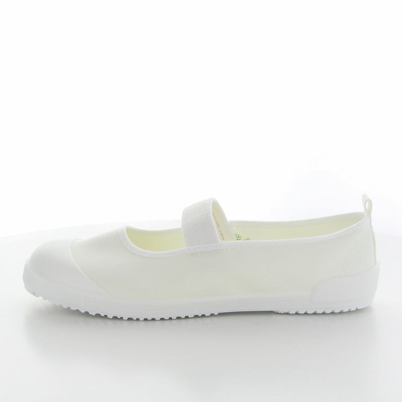 ムーンスター 子供靴 スクール Tefカラー ホワイト テフロン加工の上履き