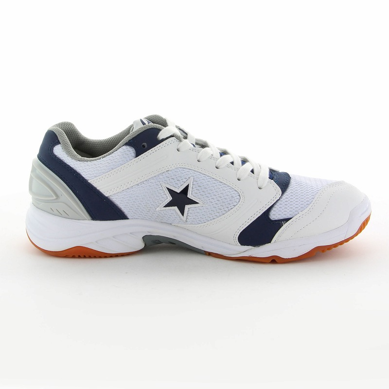 ムーンスター 子供靴/メンズ/レディース MS 1100T W/ネイビー ムーンスター 高機能体育館シューズ
