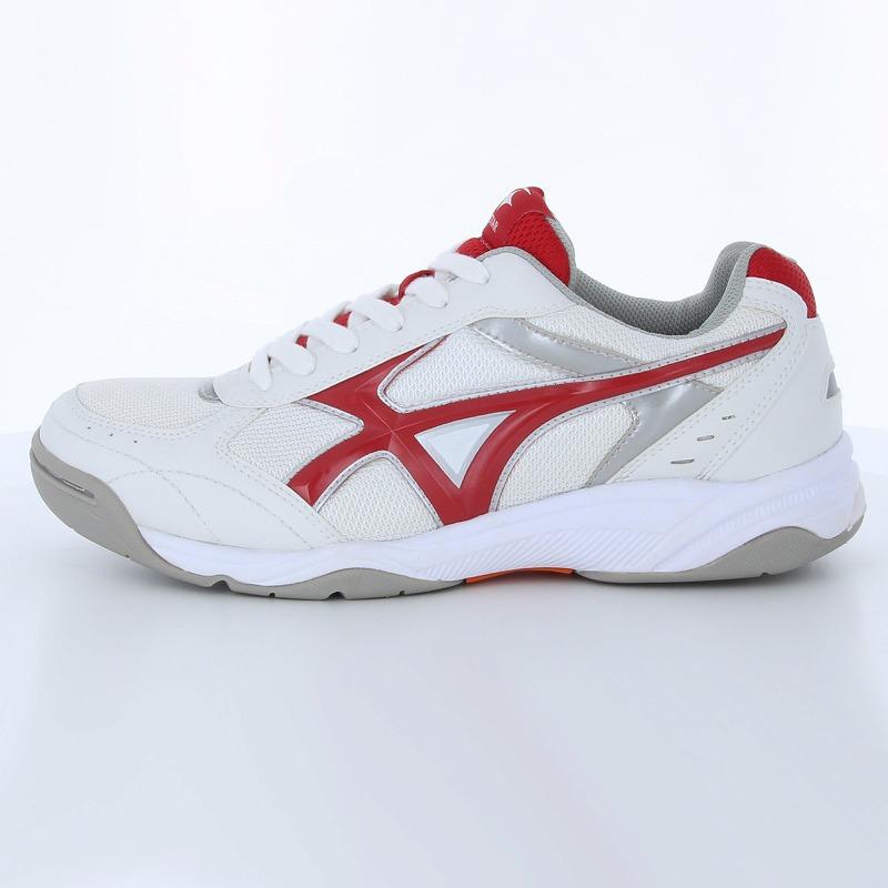 ムーンスター 子供靴/メンズ/レディース MS 3300G ホワイト/レッド 基本性能(軽量・屈曲・耐久性)を備えたポピュラーなグランドシューズ