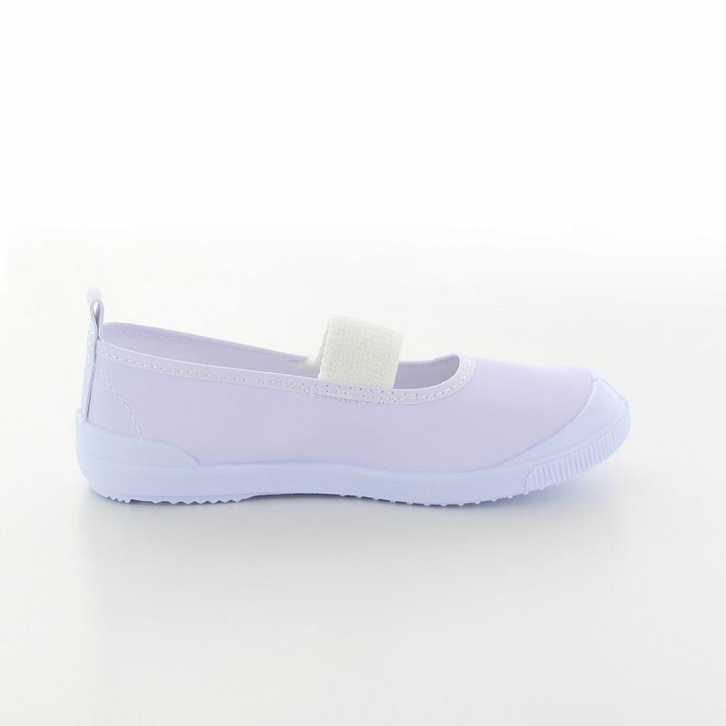 ムーンスター 子供靴 スクール ビニールバレー シロ/ホワイトC ビニール地の上履き