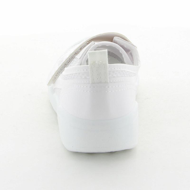 ムーンスター 子供靴/メンズ/レディース バイオTEF 02 ホワイト ムーンスター 汚れにくいテフロン加工の上履き