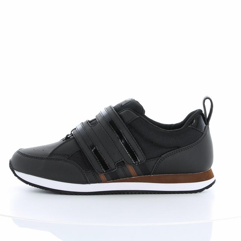 ムーンスター メンズ/レディース リハビリ 介護靴 Vステップ06 (両足同サイズ) ブラック