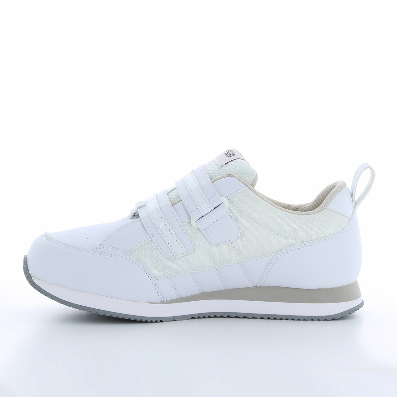 ムーンスター メンズ/レディース リハビリ 介護靴 片足販売 Vステップ06(右足のみ) ホワイト