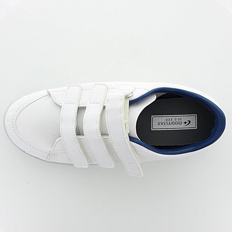 ムーンスター メンズ/レディース リハビリ 介護靴 Vステップ07 (両足同サイズ) ホワイト