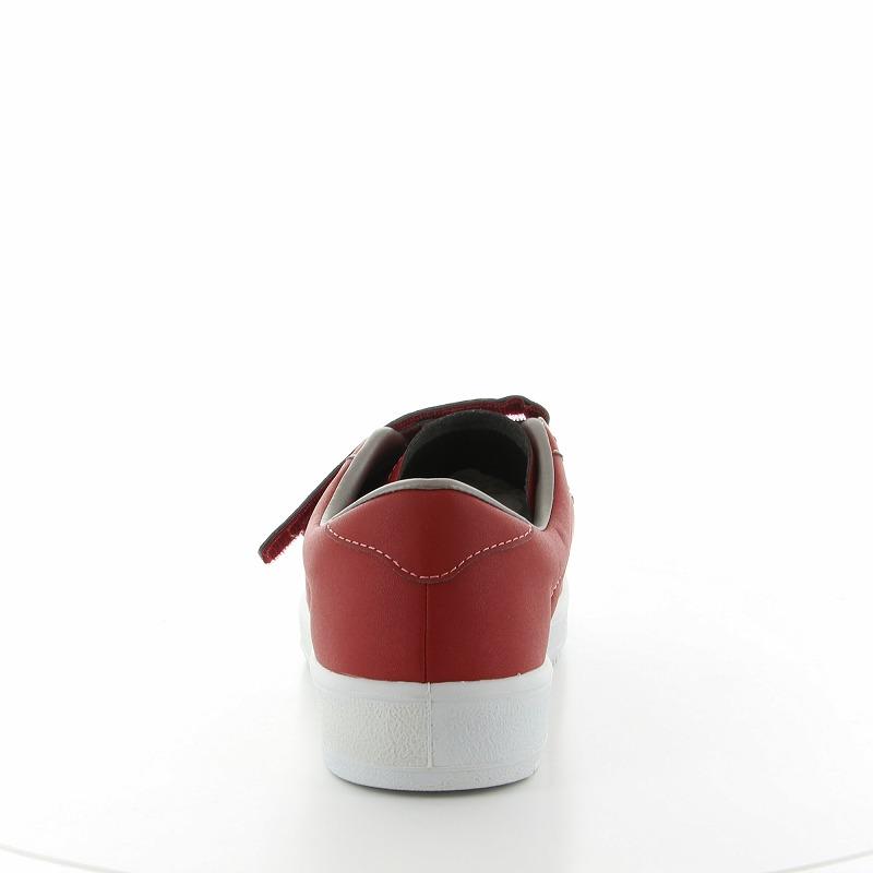 ムーンスター メンズ/レディース リハビリ 介護靴 Vステップ07 (両足同サイズ) レッド