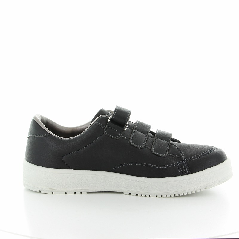 ムーンスター メンズ/レディース リハビリ 介護靴 Vステップ07 (両足同サイズ) ブラック