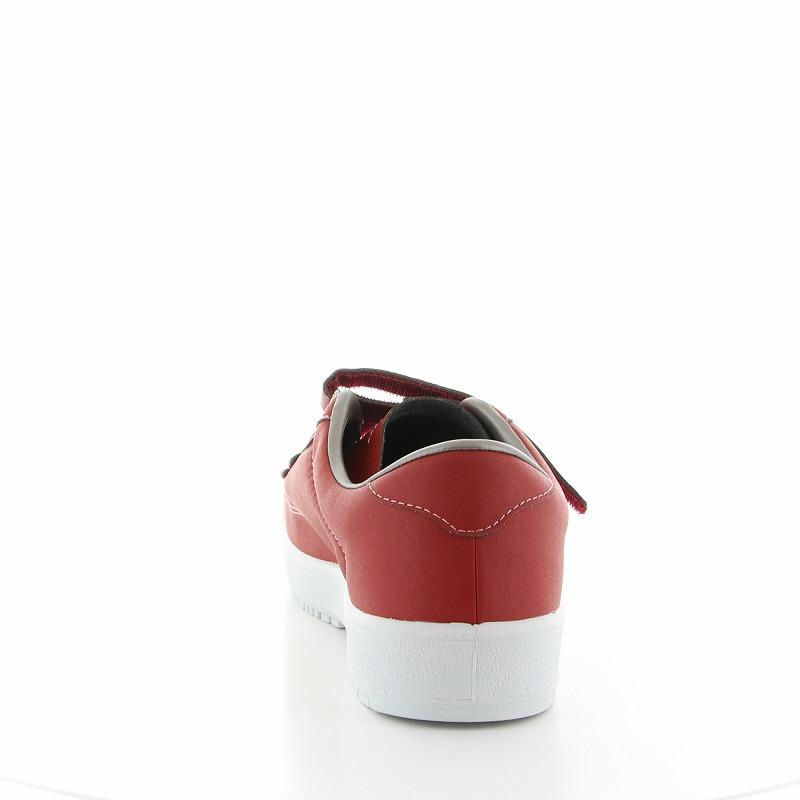ムーンスター メンズ/レディース リハビリ 介護靴 片足販売 Vステップ07 (右足のみ) レッド