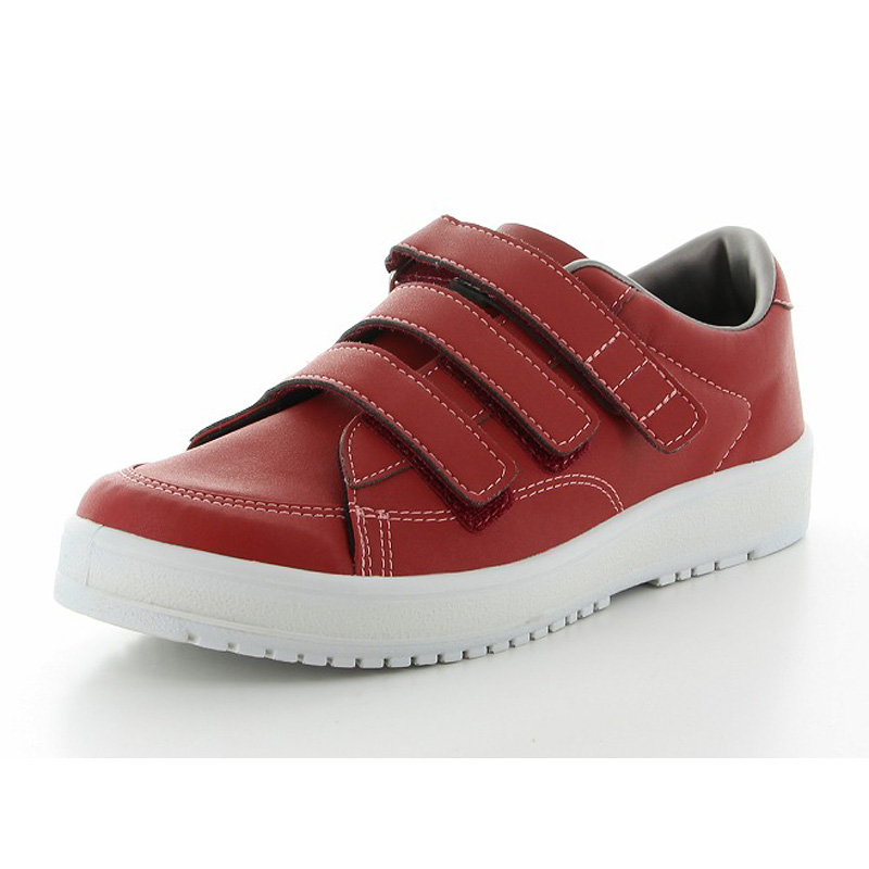 ムーンスター メンズ/レディース リハビリ 介護靴 片足販売 Vステップ07 (左足のみ) レッド