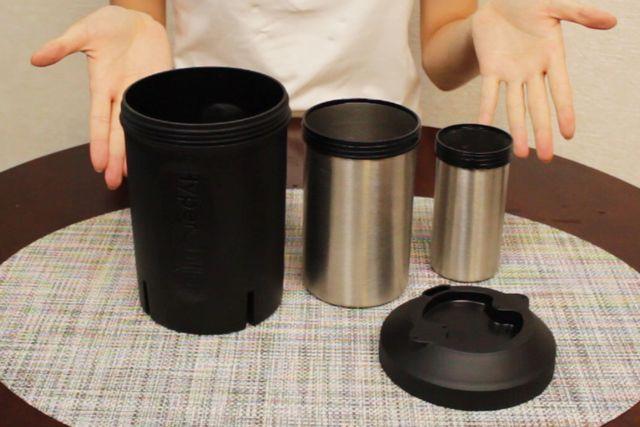 熱いコーヒーを1分でアイスコーヒーに 『ハイパーチラー』