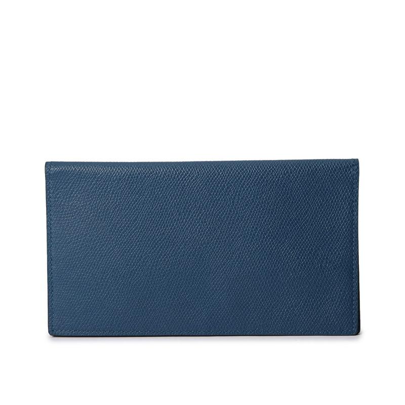 長財布(札入れ)/マチ無し ブルーインディゴ
