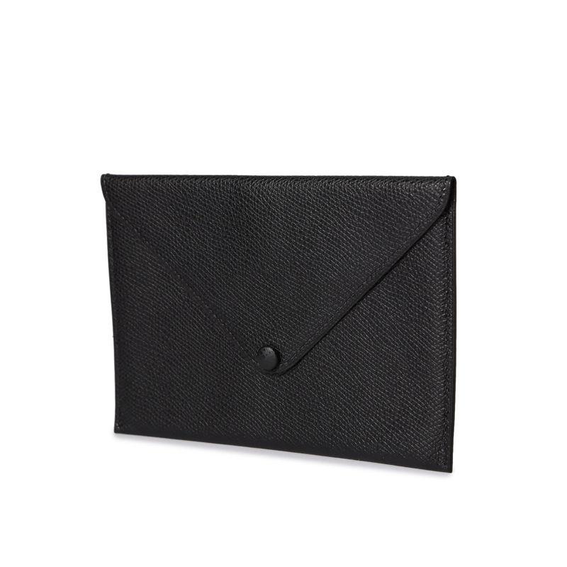 ポストカードケース ブラック