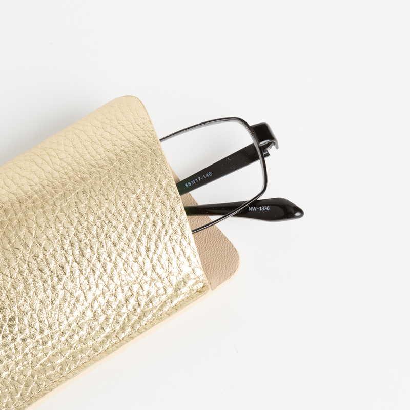 glasses case メガネ ケース カーフ (ライニングー:ラムレザー) ゴールド 94