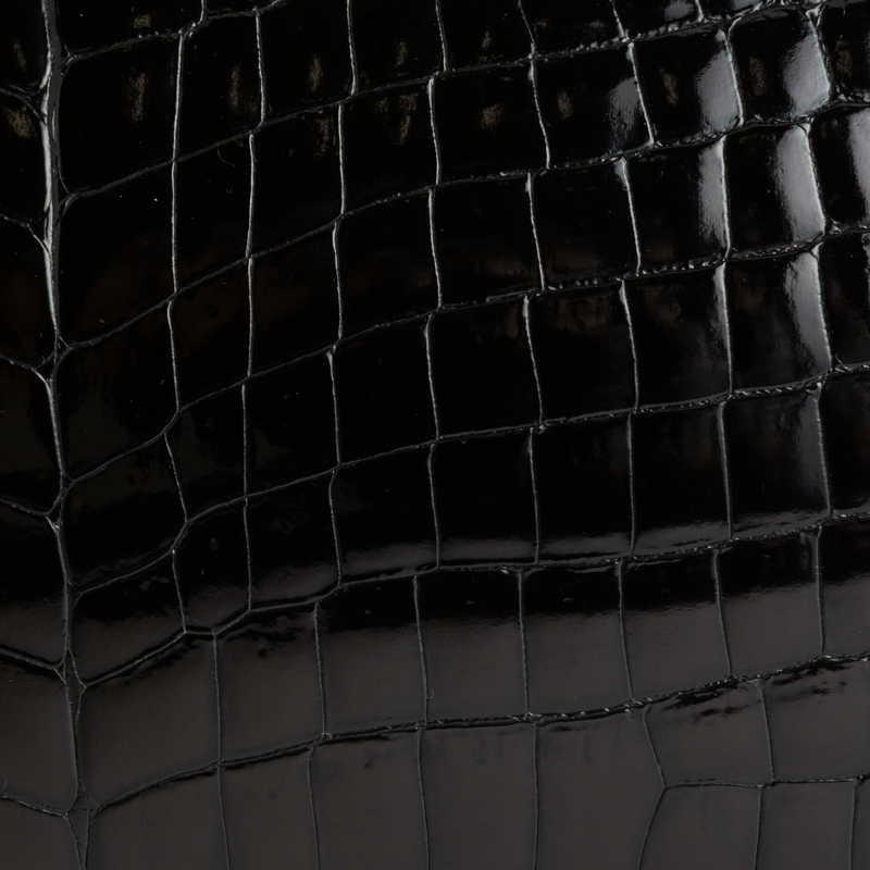 VOSGES ヴォージュ クロコダイル(ライニング:ラムレザー)  ブラック 10(ゴールド金具)