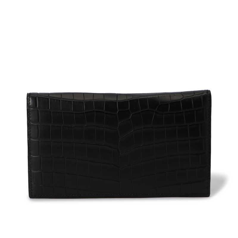 長財布(札入れ)/マチ無し ブラック
