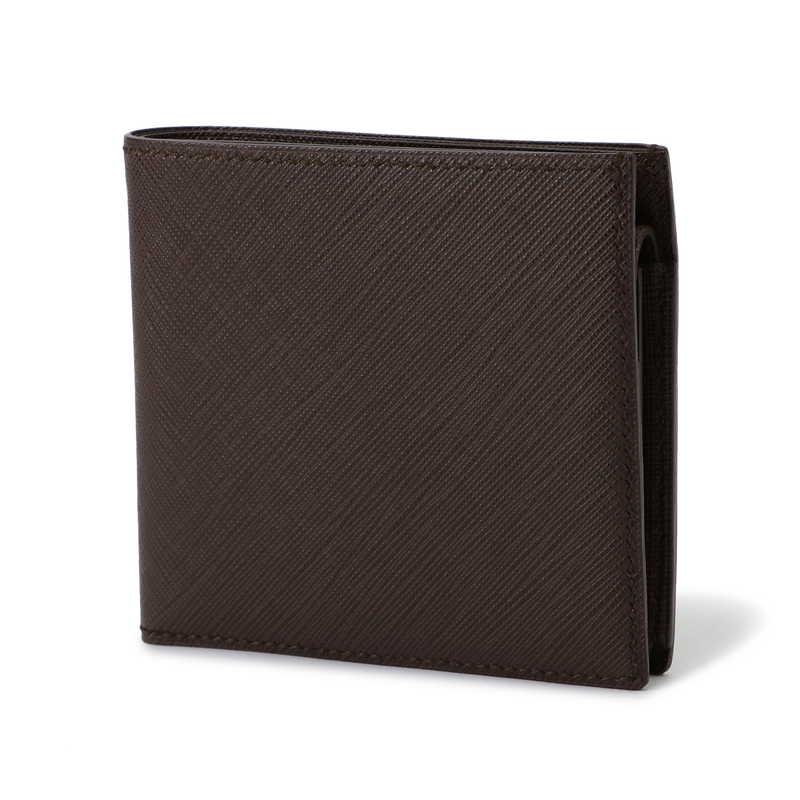 2つ折り財布(小銭入れ付) ダークブラウン