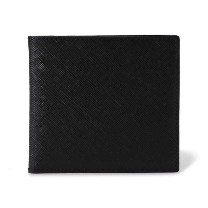 2つ折り財布(札入れ) ブラック