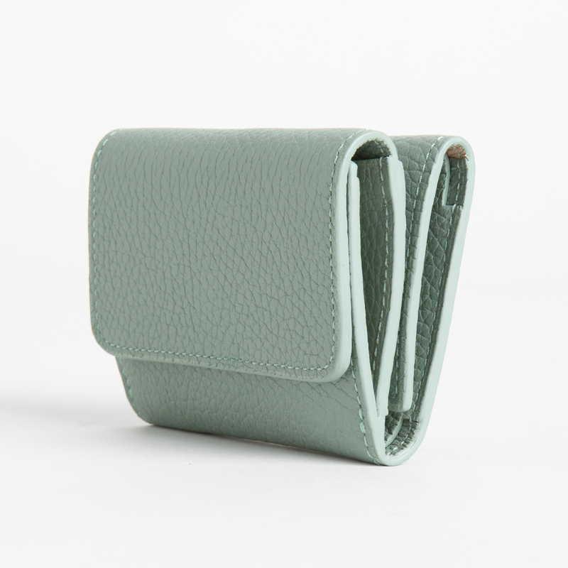 【NEW】 Mini Wallet ミニ ウォレット カーフ (ライニング:ラムレザー) ライトグリーン 51E