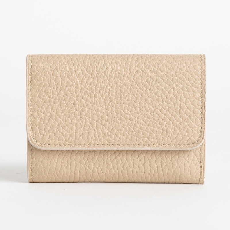 【NEW】 Mini Wallet ミニ ウォレット カーフ (ライニング:ラムレザー) ベージュ 20E