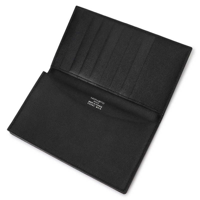 長財布(札入れ)/マチ付 ブラック